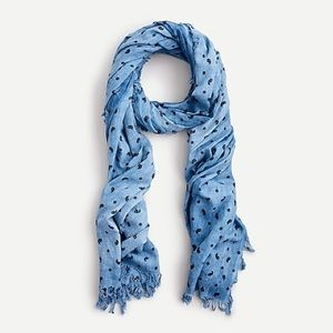 ORGANIC COTTON SCARF IN SUNWASHED MINI PAISLEY